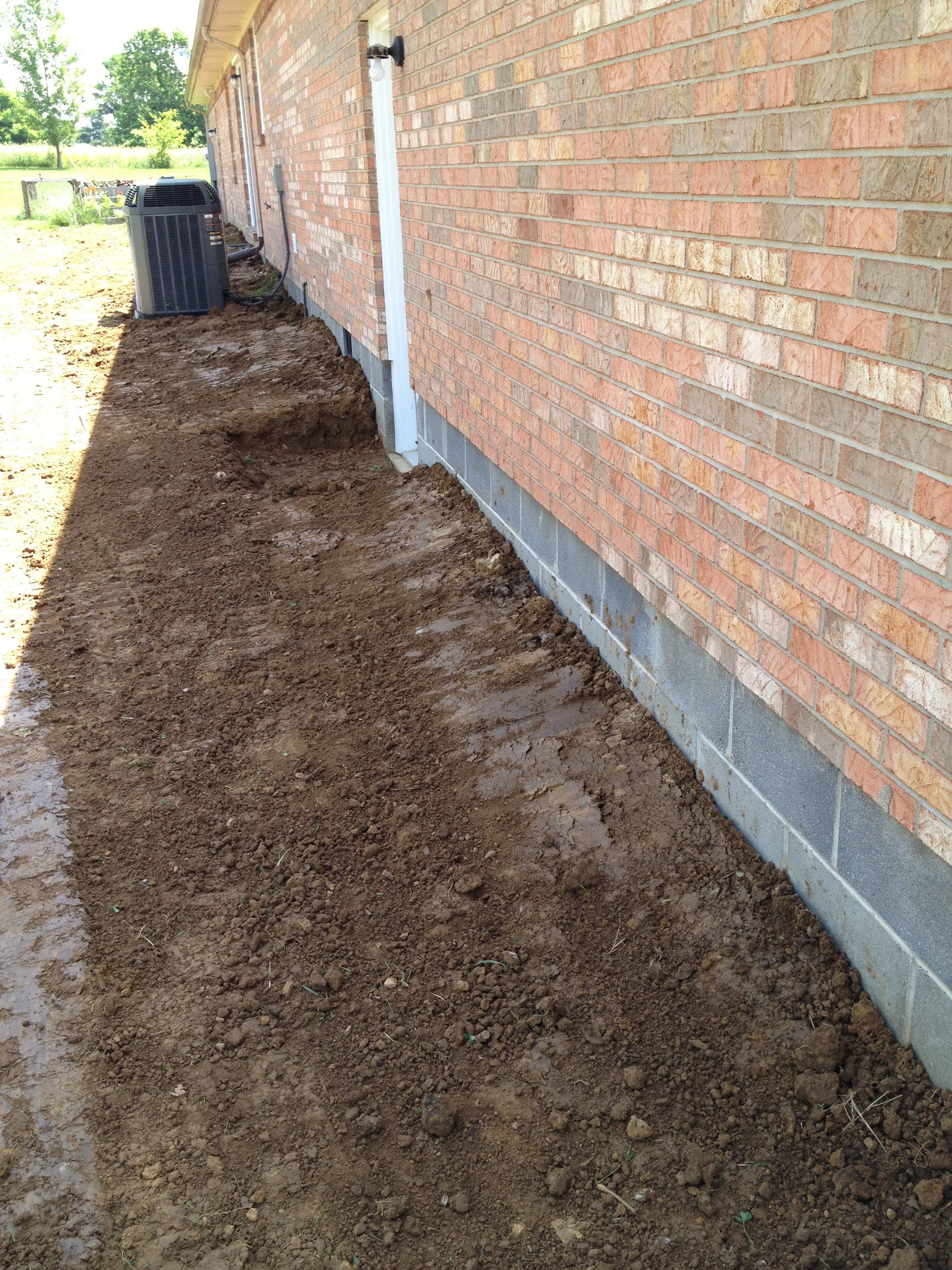 Residential foundation drain hartman septic and for Residential french drain